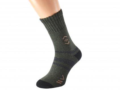 Khaki merino ponožky