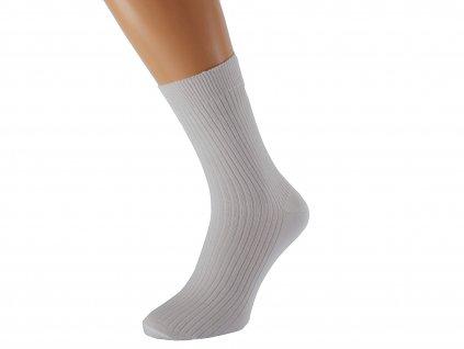 Zdravotní ponožky LUKÁŠ světle šedá