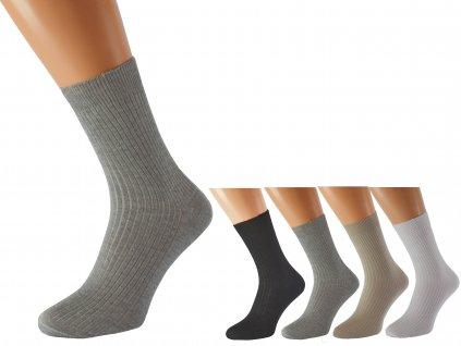 Zdravotní ponožky Lukáš šedé