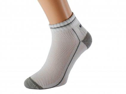 Kotníkové bílé zdravotní ponožky