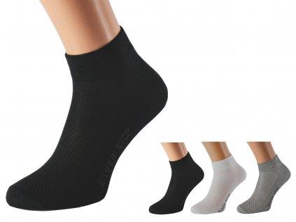 Kotníkové ponožky se stříbrem KRADANA