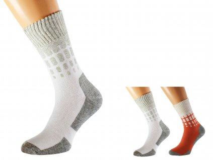 Antibakteriální bavlněné ponožky