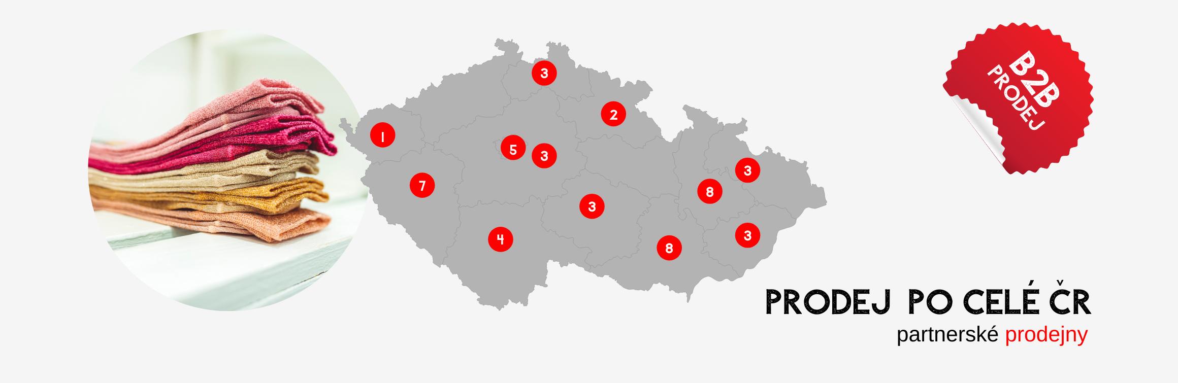 B2B prodej a prodejny po ČR a SK