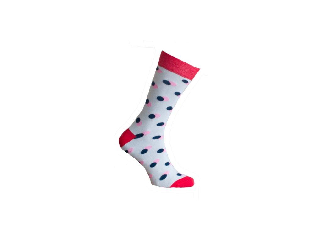 Ponožky s  puntíky 039