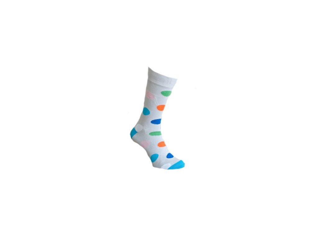 Ponožky s  puntíky 703
