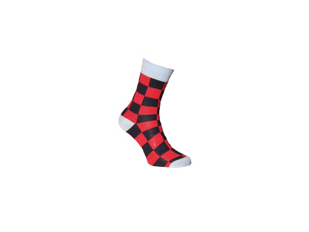 Ponožky šachovnice 080