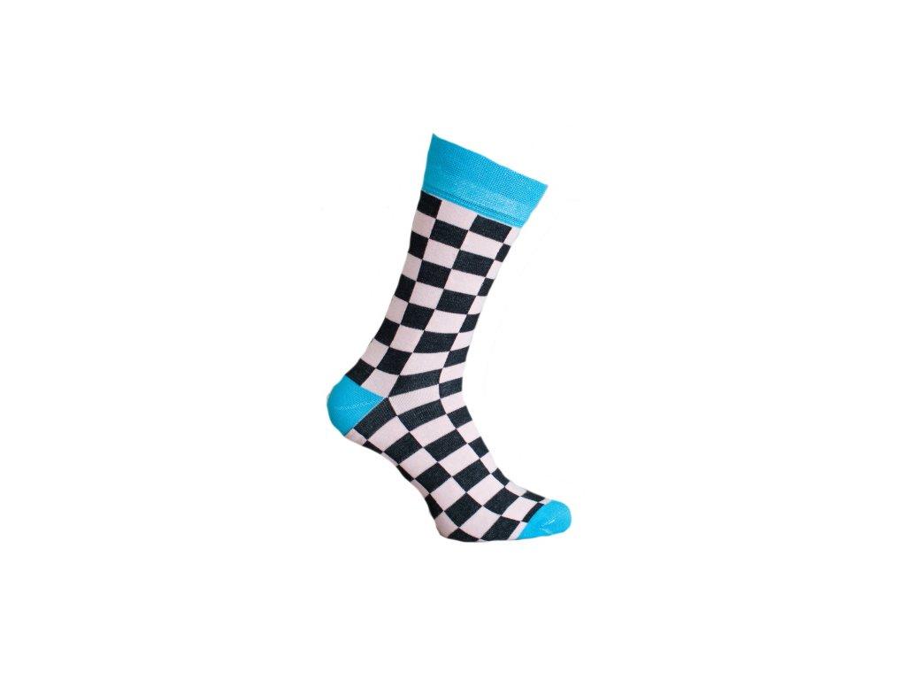 Ponožky šachovnice 081