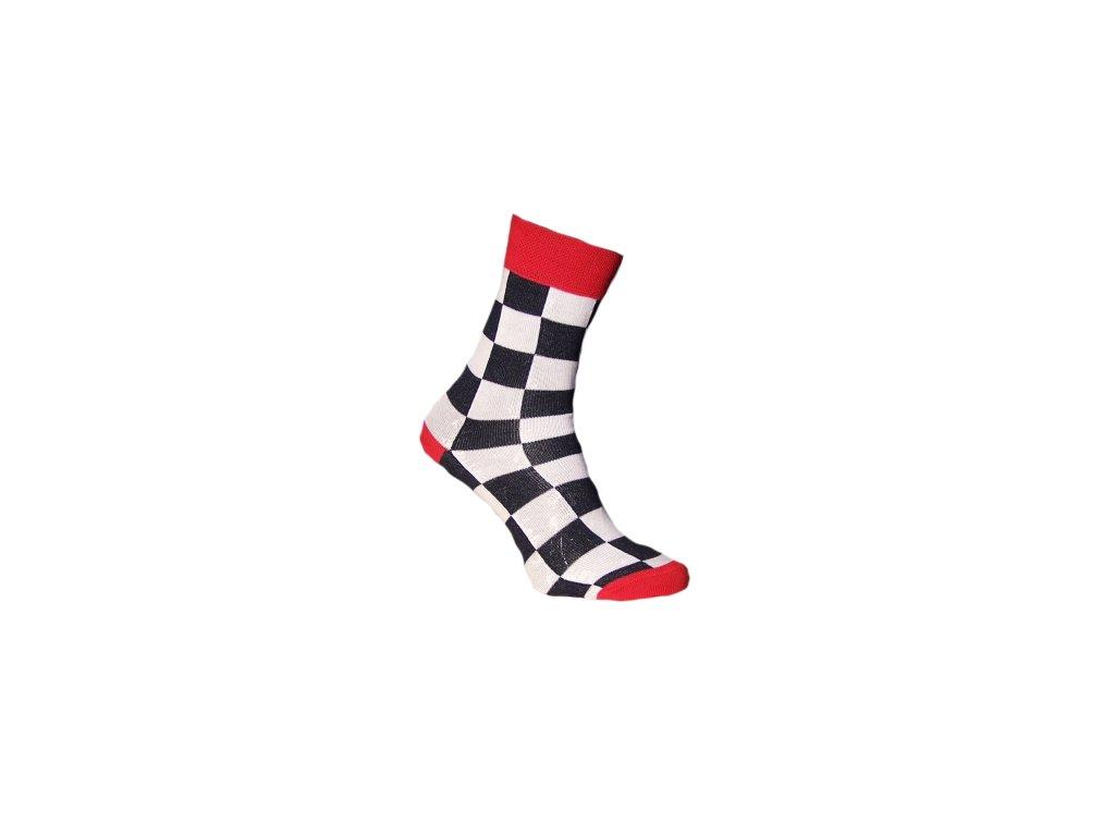 Ponožky šachovnice 083