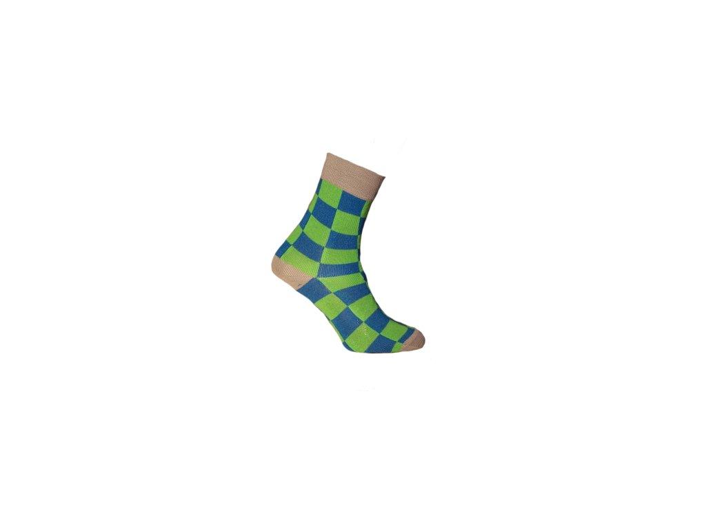 Ponožky šachovnice 084