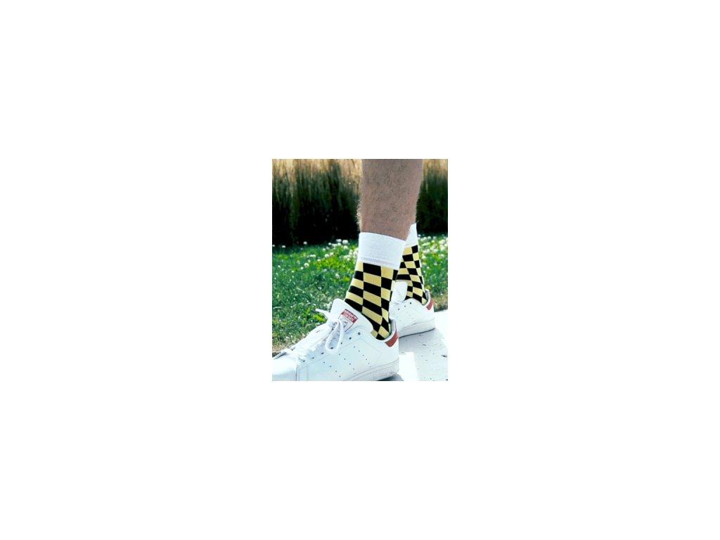 Ponožky šachovnice 085