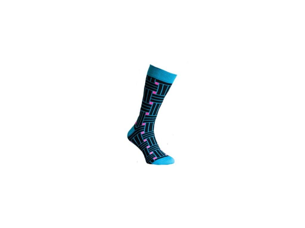 Ponožky 3D pruhy 128
