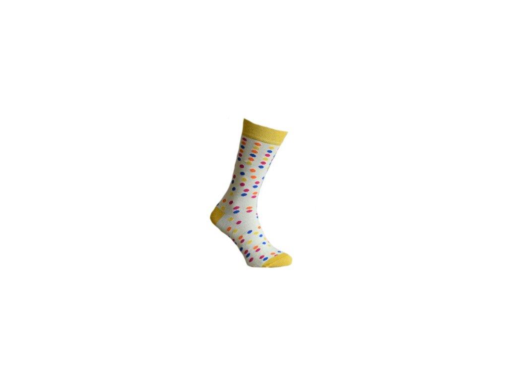 Ponožky s puntíky 182