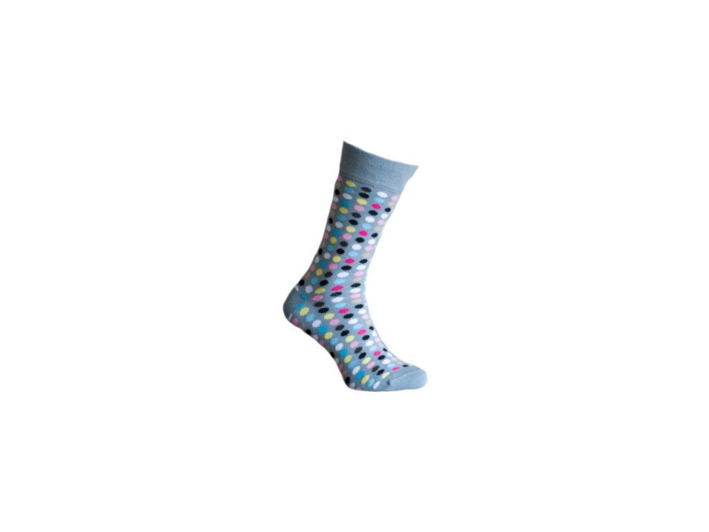 Ponožky s puntíky 190