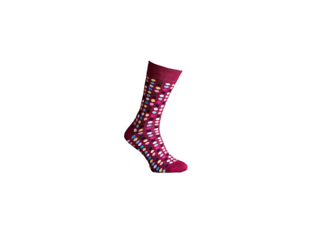 Ponožky  s puntíky 191
