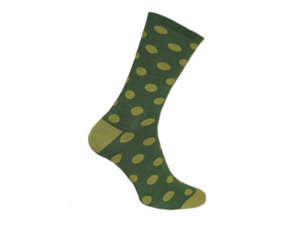 ponozky-zeleny-puntik