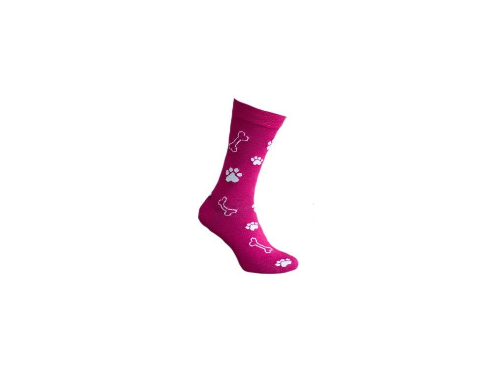 Ponožka růžová tlapka 290