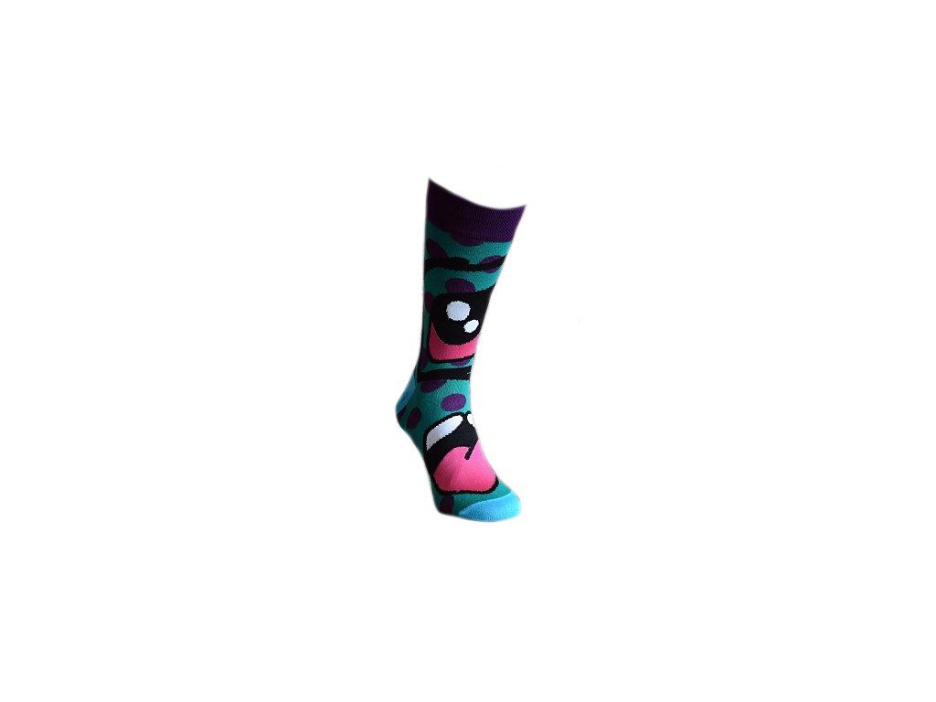 Ponožky zelený ksicht 322