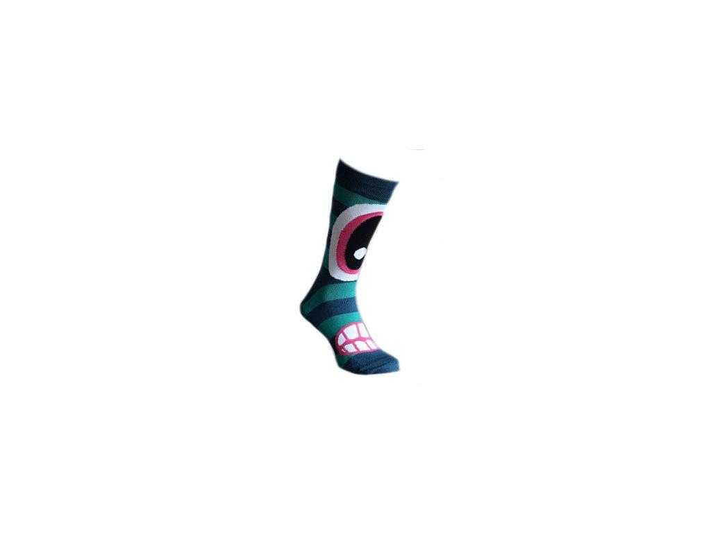 Ponožky  modrý ksicht 324