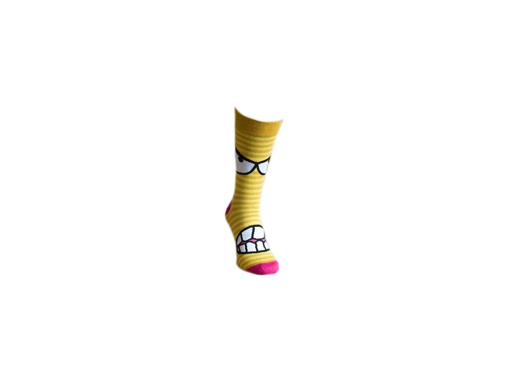 Ponožky žlutý ksicht 325
