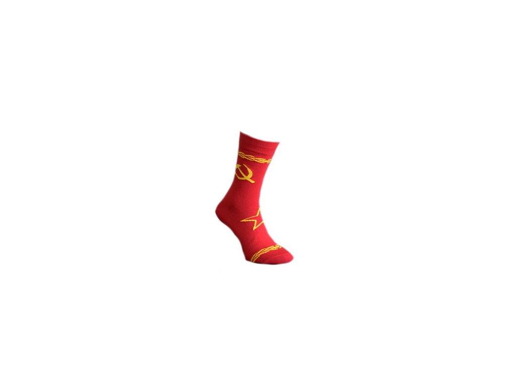 Ponožky Srp a kladivo 339