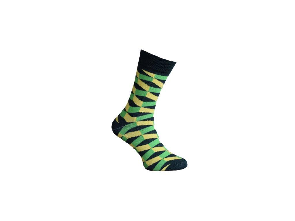 Ponožky 3D schody 021