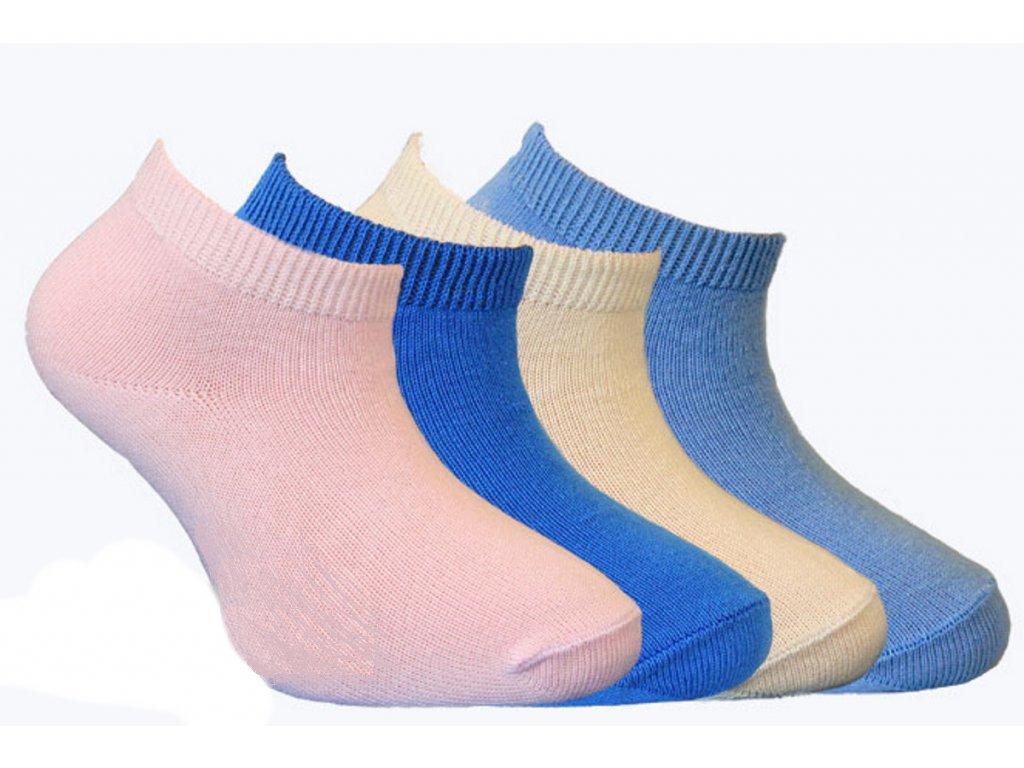 Kotníková dětská ponožka se stříbrem