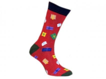 Ponožky Vánoční dárky 556