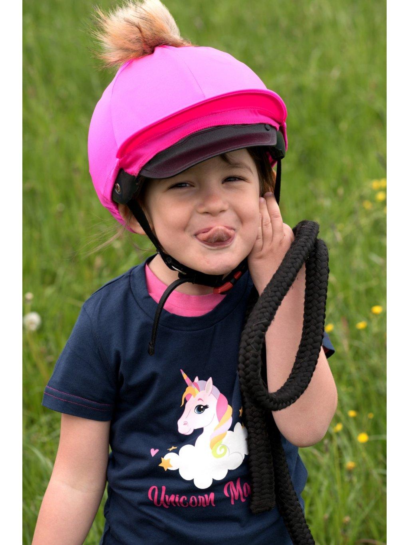 Růžový potah na helmu Lucas&Lilli PINK