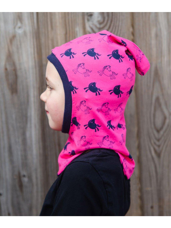 Růžová kukla pod helmu Lucas&Lilli PINK
