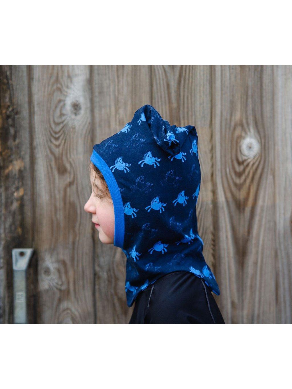 Modrá kukla pod helmu Lucas&Lilli BLUE