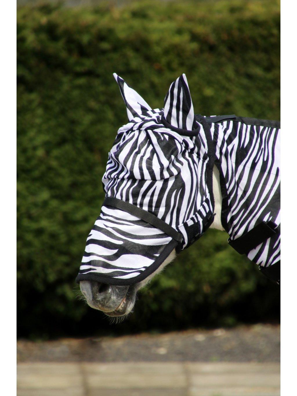 Maska proti hmyzu Zebra s ochranou uší a nozder