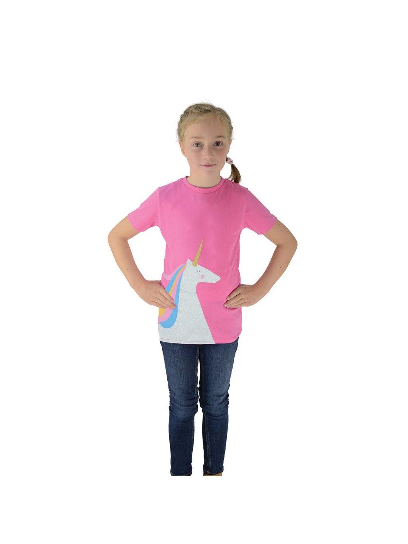 Dětské jezdecké triko Magical Glitter Unicorn HyFASHION