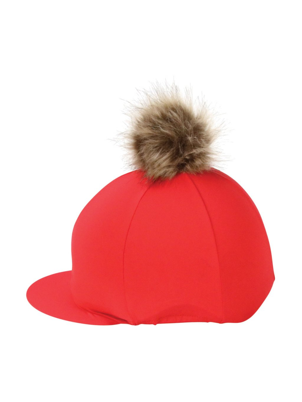PR 30646 Hy Equestrian Hat Cover with Faux Fur Pom Pom 02
