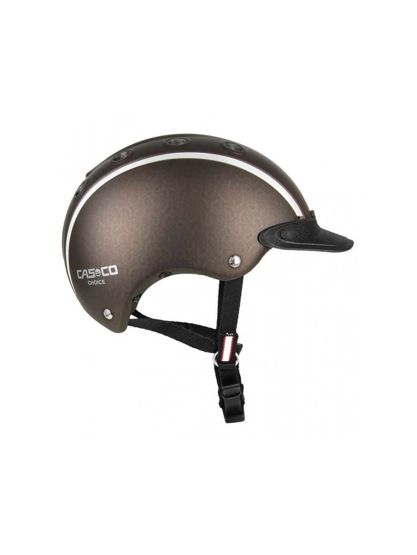 Jezdecká helma CASCO Choice hnědá