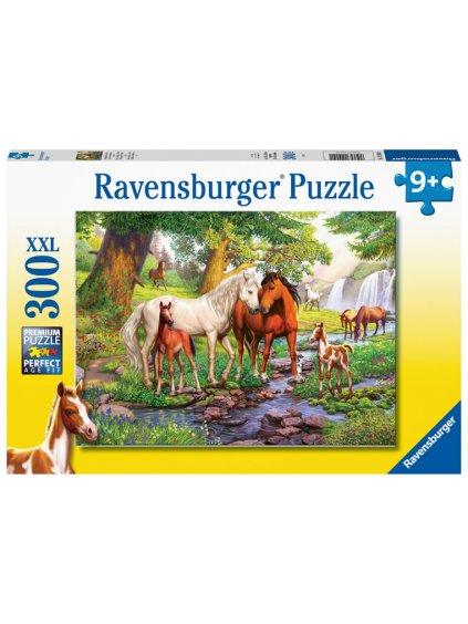 Puzzle Koně u řeky