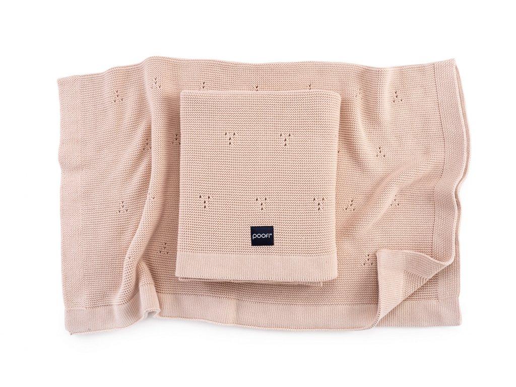 Pletená bavlněná deka - Paris Broskev