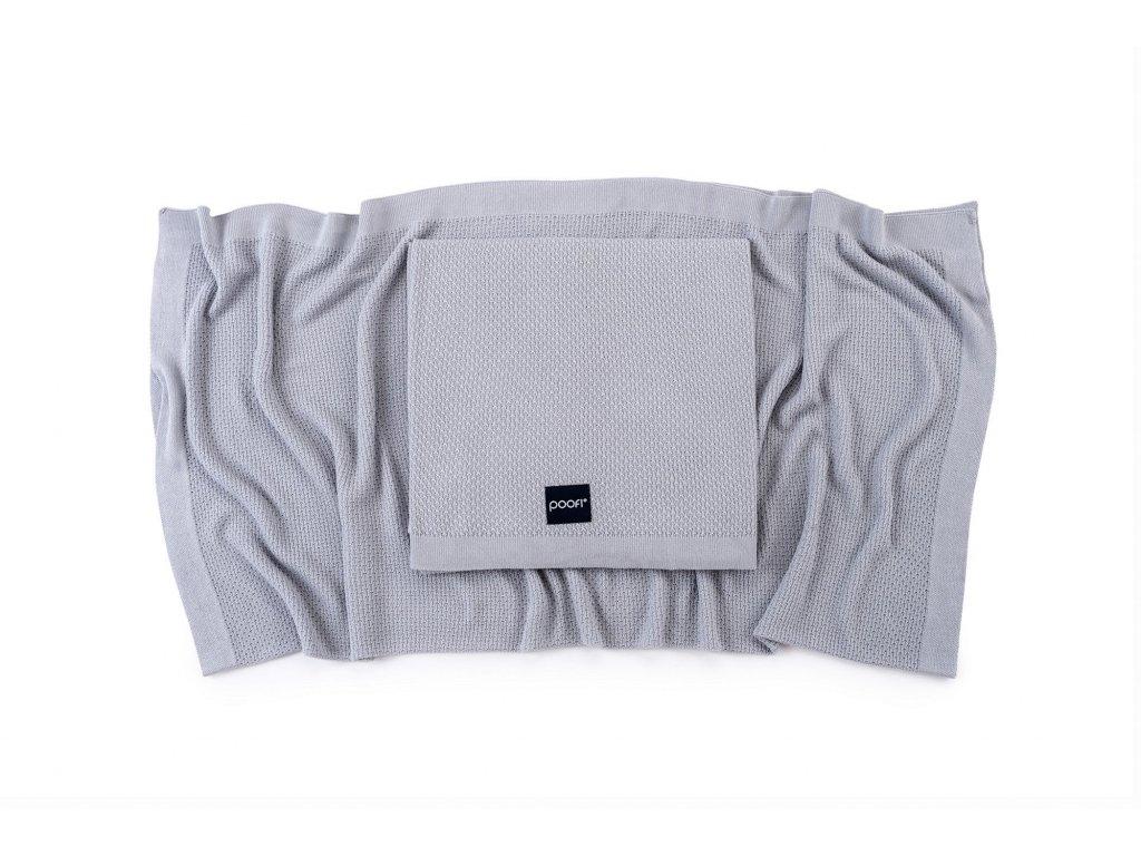 Lehká pletená bambusová deka Šedá