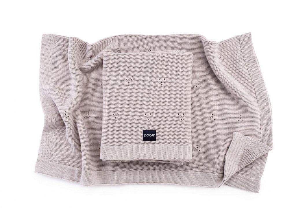 Pletená bavlněná deka - Paris Béžová