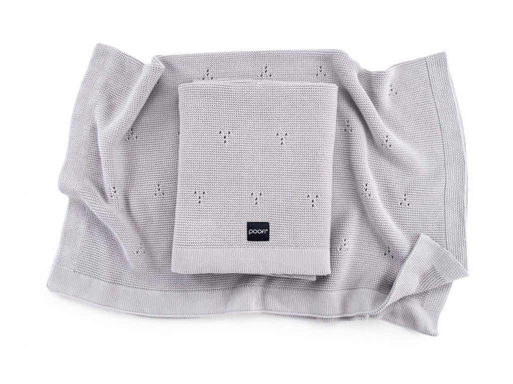 Pletená bavlněná deka - Paris Šedá