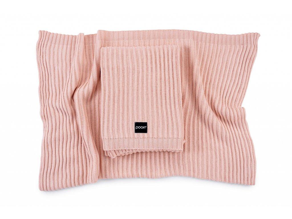 Pletená bambusová deka - Oslo Meruňka