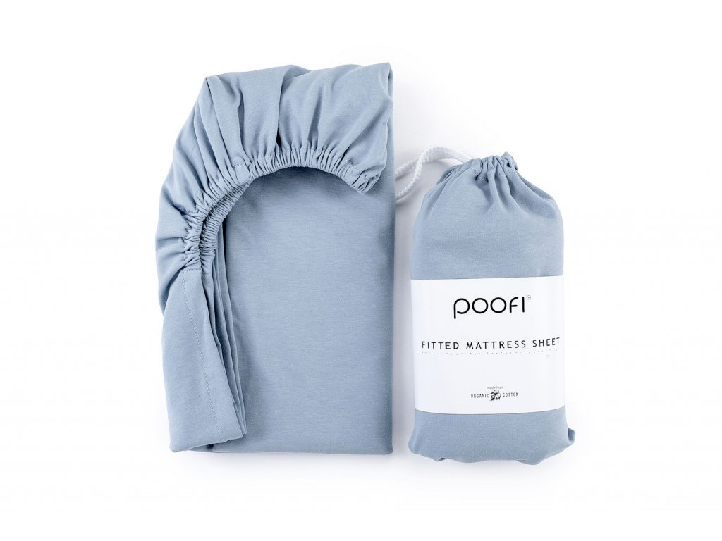 prosteradlo z organicke bavlny 60 x120 cm dusty blue