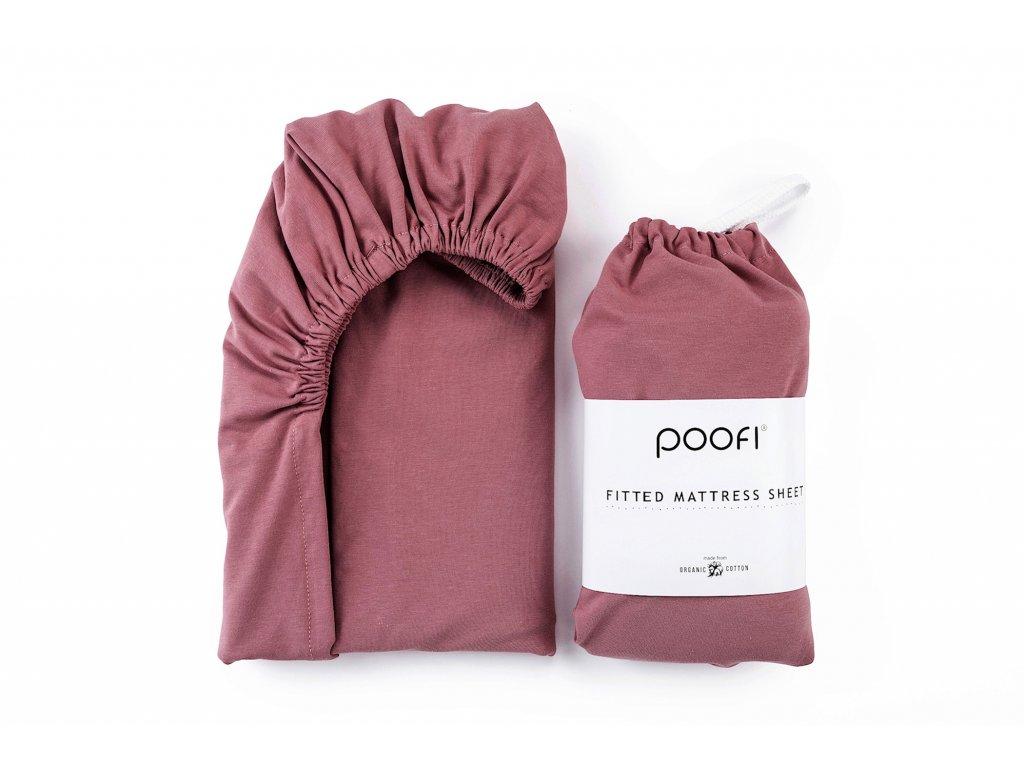 prosteradlo z organicke bavlny 70 x140 cm karmin do postylky pro deti