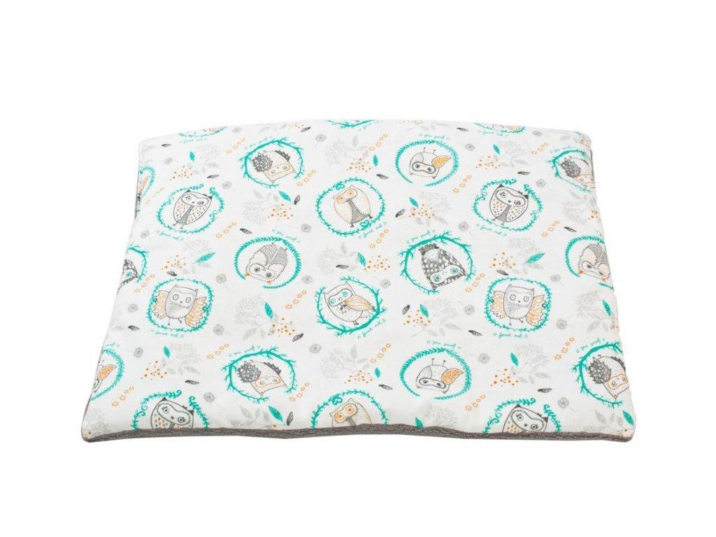 Baby polštář Minky s potiskem Sova - Friends by Poofi