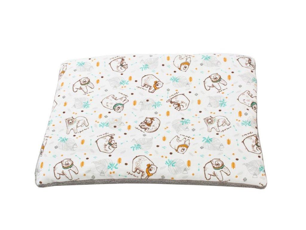 Baby polštář Minky s potiskem Medvěd  - Friends by Poofi
