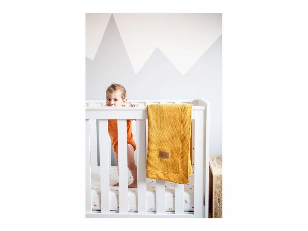deka pro deti pletena organicka zluta
