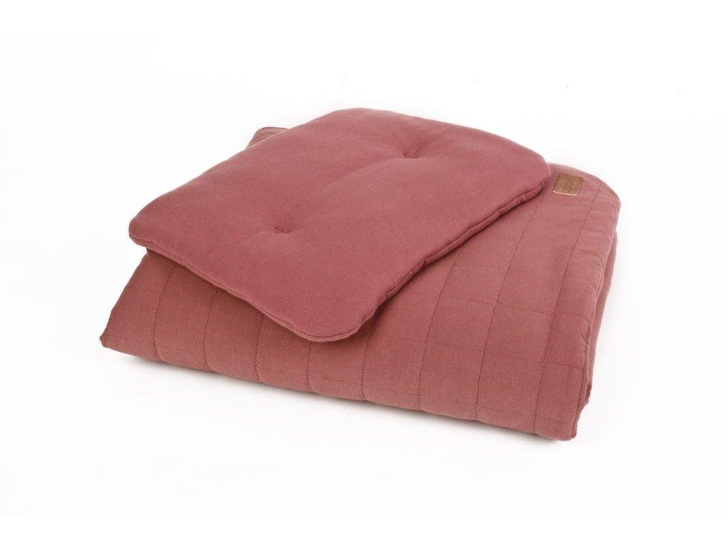 Ložní prádlo z organické bavlny v cihlové (Přikrývka: 80x100; Polštář: 30x40) ORGANIC & COLOR