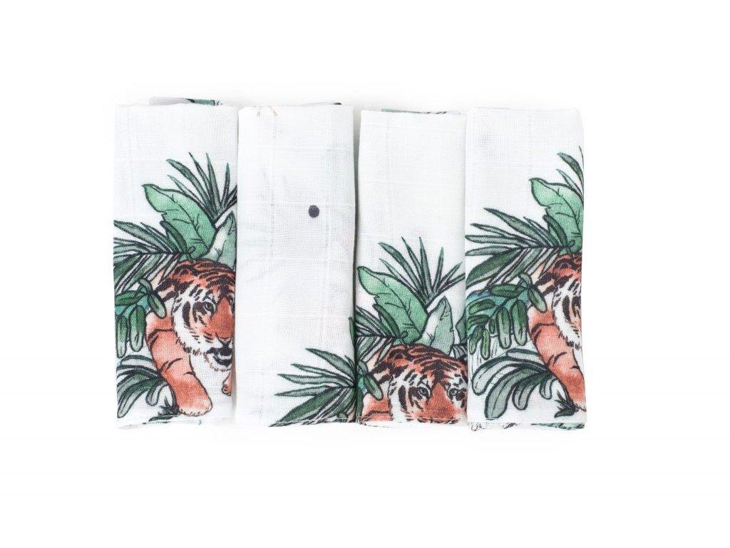 Čtyřbalíček bambusových ubrousků TROPICAL s Tygříky