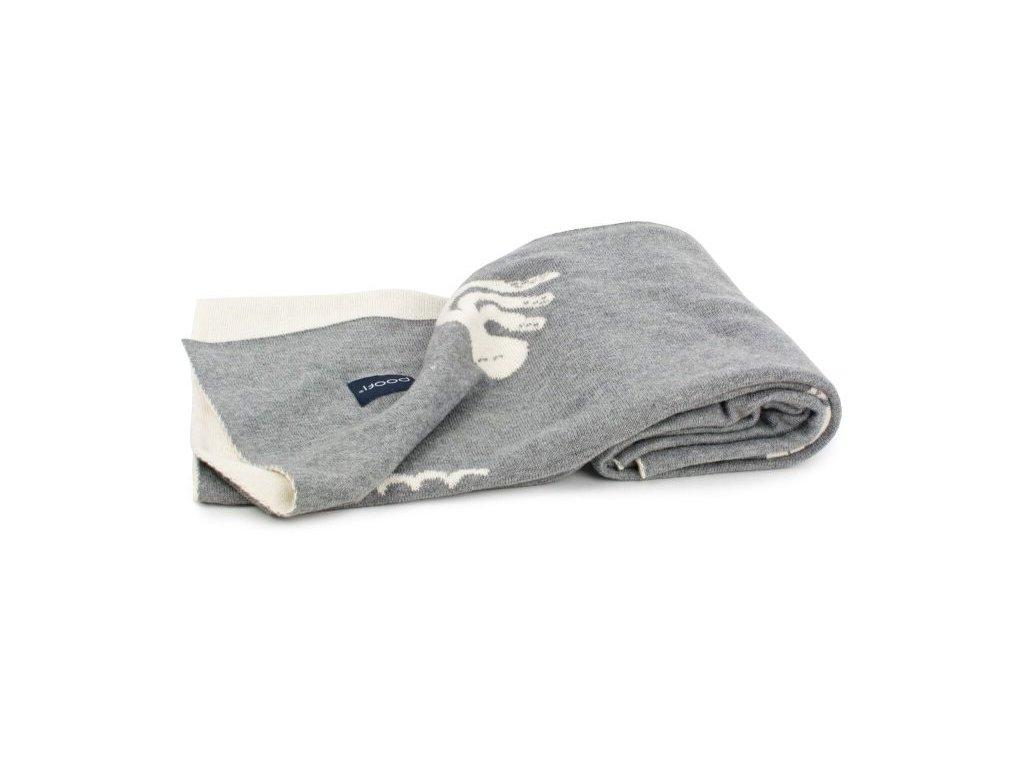 Oboustranná deka s chobotničkou šedo bílá