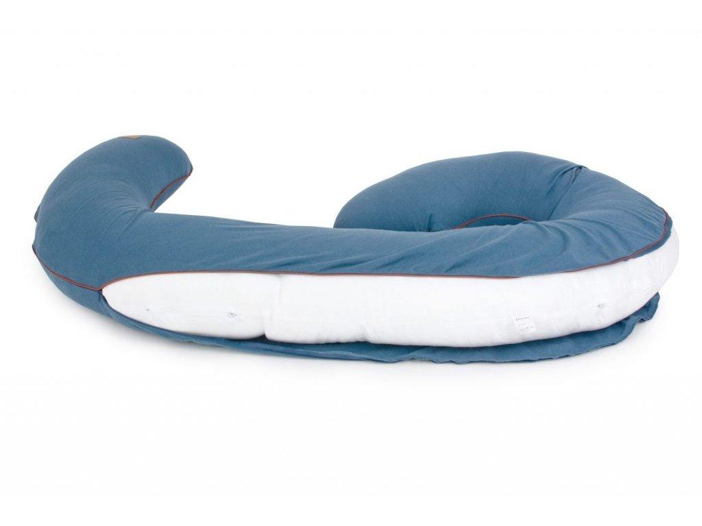 Organický obal na těhotenský polštář ve tvaru Devět ORGANIC & COLOR modrý