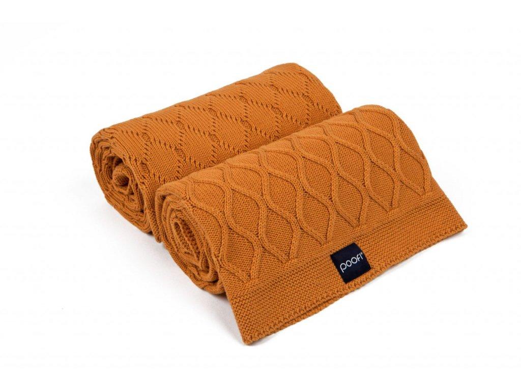 Pletena deka double knit mrkvova